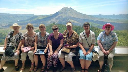 Group of quilters on a Bali Quilting retreat orgainsed by me