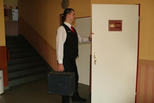 Our bellboy and the luggage room