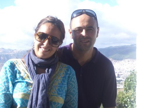 the owners of Blanco Riad: Maribel & Younes
