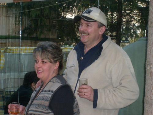 Transylvania Cowboy Dorin and his wife Simona