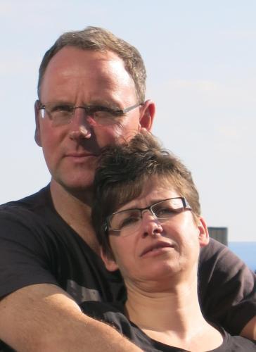 Hausherren Sven und Silvia