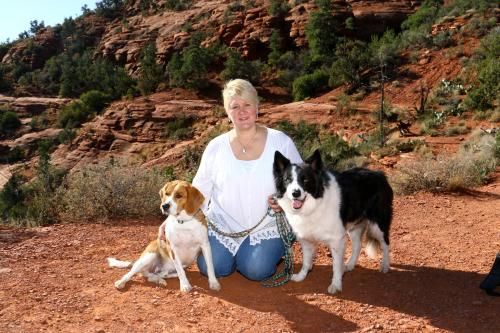 Cheryl & our resident pups (Leo & Cooper)