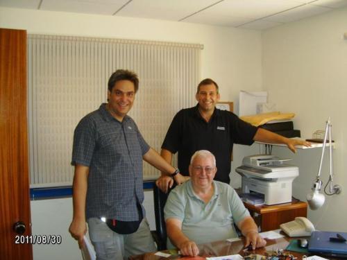 Stavros, Nikos,Andreas . Vyzirakis family