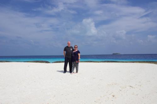 Ian and Alison Wardle honeymoon in the Maldives 2016