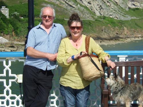 Nigel and Kath Leak on Llandudno Pier