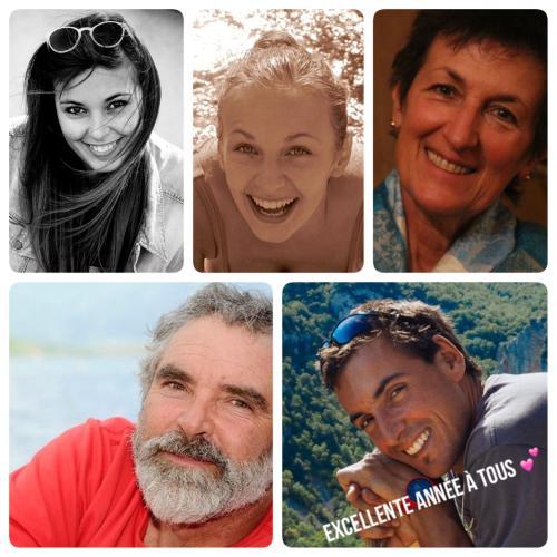 Chloé, Margaux, Véronique, Pierre et Thibault