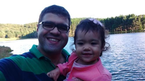 NIlton e sua filha Marina