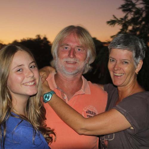 Tina, Dieter, Melina (daughter)