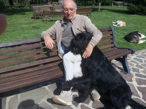 Paolo Ricciardelli ed il cane Ciro