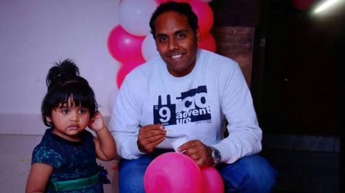 Manjunath JM and My daughter Manasvini