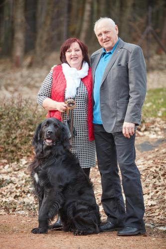 Renata a Zdeněk Kulišovi a  pes Ervin