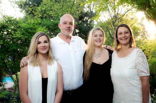 Bianca, Anita, Alexandra and Grayham Beazley