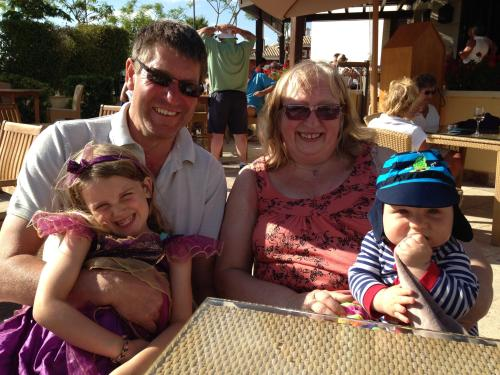 Gwen and Steve Ava and Jude our grandchildren