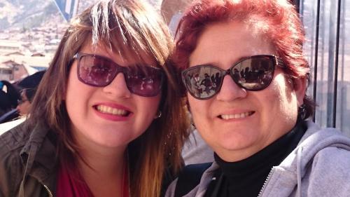 Ana Cecilia y mi hija Lourdes