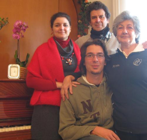 Daniela, Romolo, Francesca and Matteo