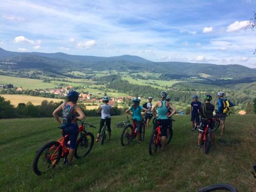 Our guests cycling
