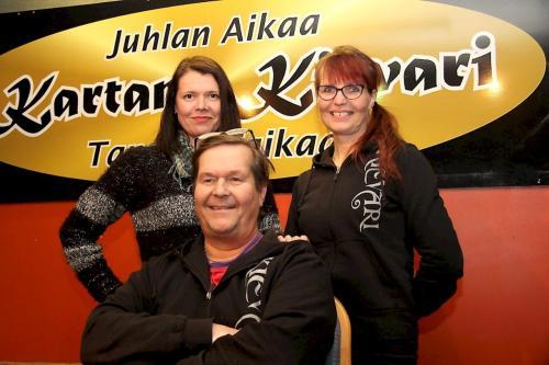 From the left Nina Rissanen, Riitta Pitkänen and Lauri Pitkänen