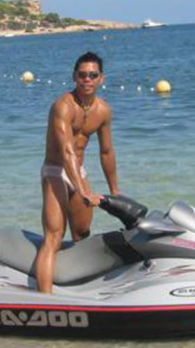 Hermie in Ibiza Spain jet skiing