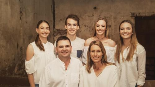 Steve and Katrina with Rachel, Joel, Hannah and Lydia