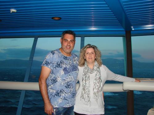 The hosts: Dora and Petros