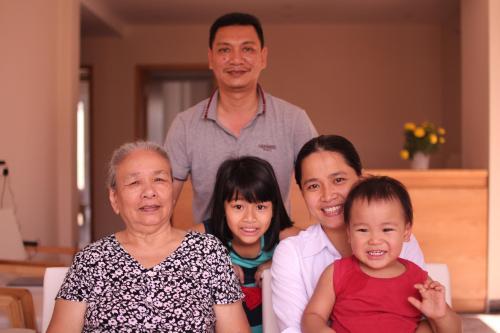 Jolie's sweet family