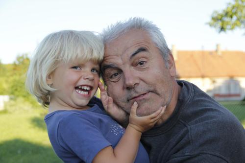 Jirka a vnučka Nikol