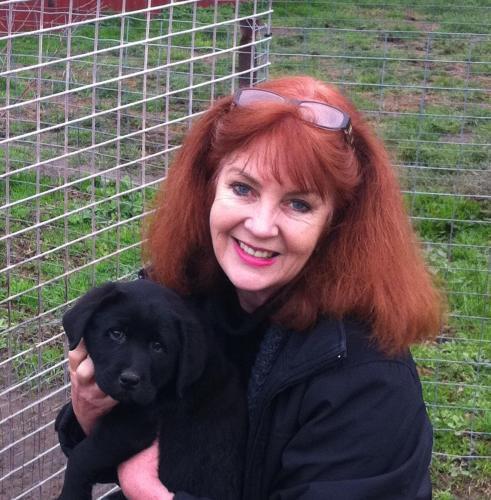 Loretta and Archie the Wine Dog