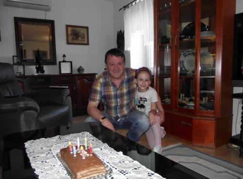 Mr. Mavrovic, owner with his granddaughter