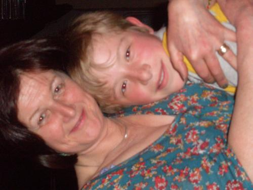 Jayne with our eldest grandson, Archie