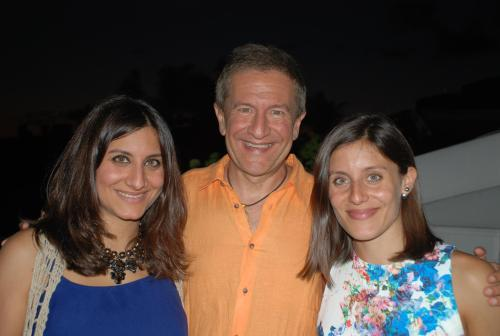Ned with daughters