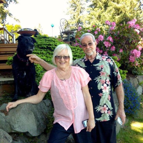 John and Beth Shephard with Harley