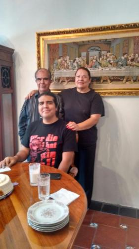 Minerva, Héctor y Héctor Jr