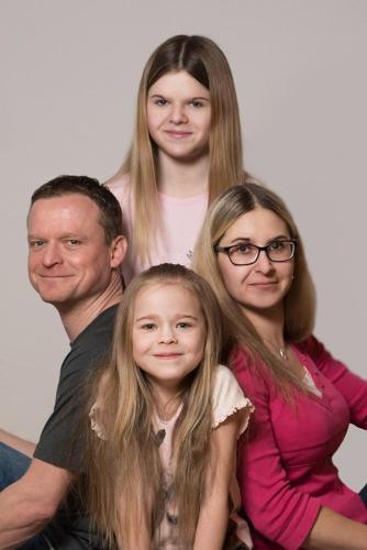 Lars Kuke mit Familie
