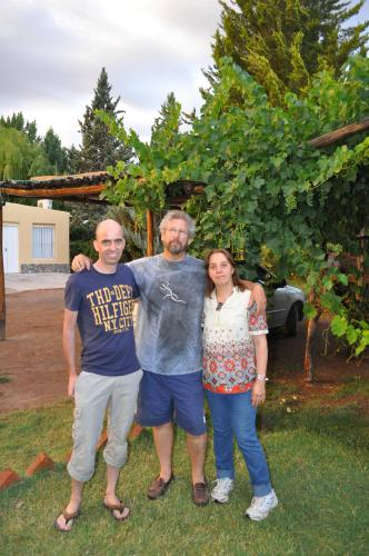 Owners (Lidia and Miguel) and a guest