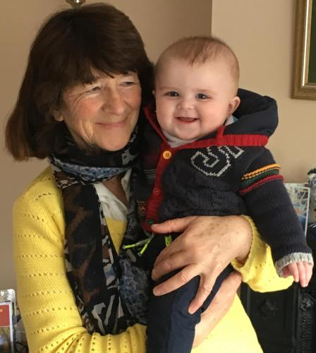 Eva & my first grandson