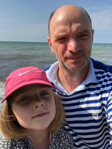 Ich, Dirk mit Tochter.