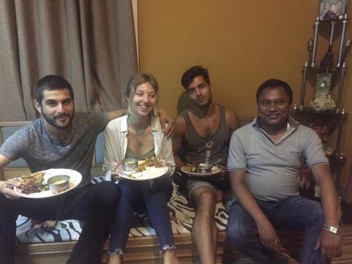 Guest Having Nepali Dinner