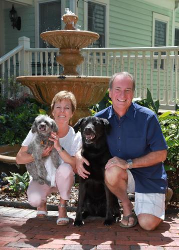 Lisa & Ron with Lulu & Molly