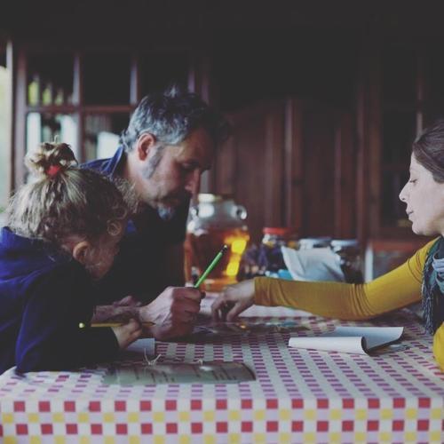 Cesare Isabella e la piccola Rachele . Pronti ad accogliervi nel loro Rifugio
