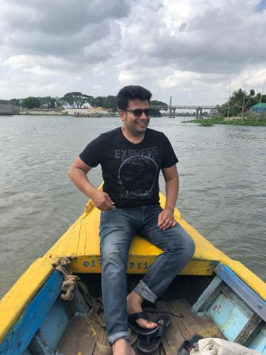 Enjoying boat ride in Bangladesh