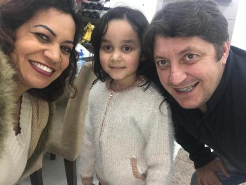 Carlos, Rosane e Sophia