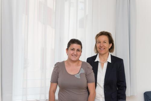 Nora Gossweiler und Jacinta