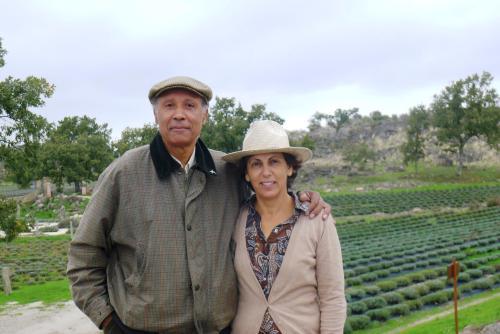 Os proprietários da Quinta das Lavandas: Teresa Tomé e Estêvão de Moura