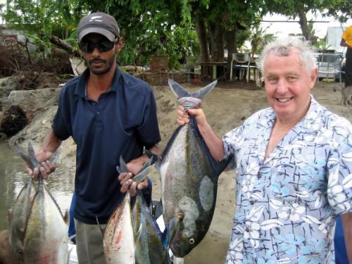 Clarke with one of his local fishing friends