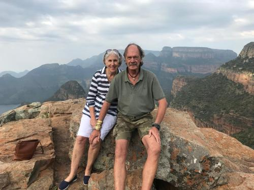Owners Rina&Piet and Zyl at the Three Rondawels one of many gems in the Lowveld!