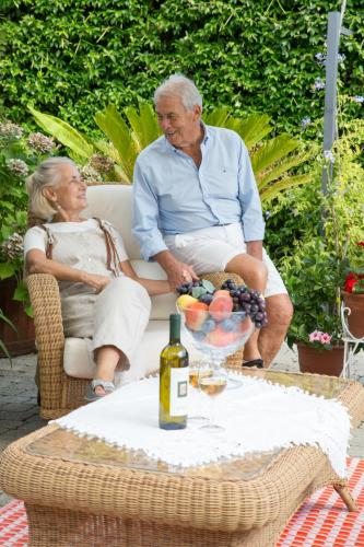 Rossella and Giovanni, a middle age couple loving the nature and  open air life